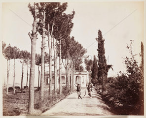 'Jellallabad [sic] The Amir's Garden Sidewalk'  1879.