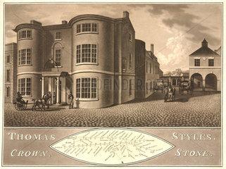 Coaching Inn  Stone  Staffordshire  early 19th century.