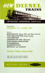 'New Diesel Trains'  BR (WR) poster  1957.