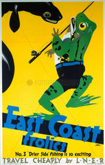 'East Coast Frolics  No 3'  LNER poster  1933.
