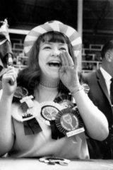 Female football supporter  World Cup  Wembley  July 1966.