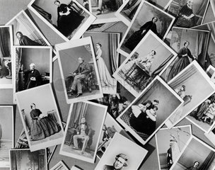 A collection of carte-de-visite  19th century.