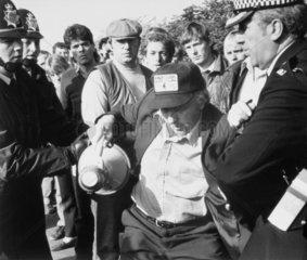 Arthur Scargill  president of the NUM  1984.