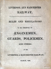 Rules and regulations for enginemen  guards and policemen  1839.