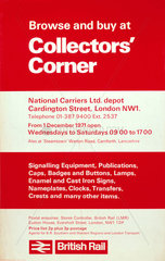 'Browse and Buy at Collectors' Corner'  BR poster  1971.