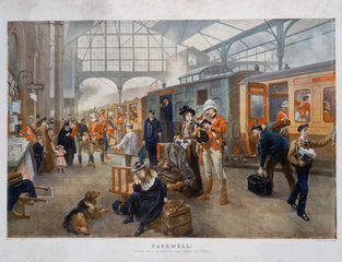 'Farewell!'  Waterloo Station  London  1897.