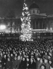 Carols in Trafalgar Square  London  20 December 1950.