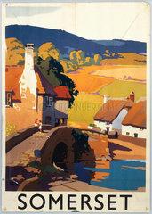 'Somerset'  GWR poster  c 1930s.