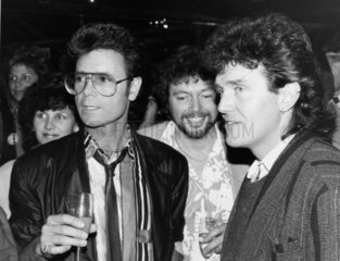 Cliff Richard  Jeremy Beadle and Alvin Stardust  May 1985.