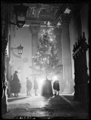 A Christmas tree for poor children  St Martin-in-the-Fields  London  1933.