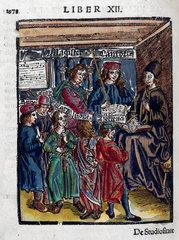 Magister Canto  music teacher with pupils  1535.