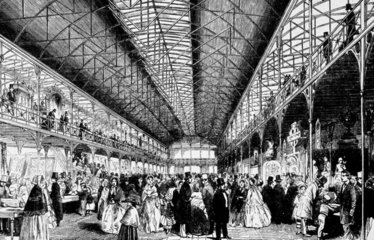 Opening of the South Kensington Museum  London  1857.