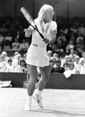 Martina Navratilova  Wimbledon 21 June 1985.