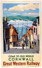 'Come to Old World Cornwall'  GWR poster  1924-1947