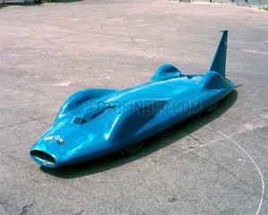 Donald Campbell's record-breaking 'Bluebird' CN7 car  1962.
