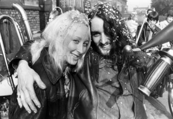Hell's Angel wedding  October 1971.
