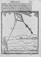 Early English kite  1630s. Plate taken from