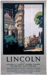 'Lincoln'  LNER poster  1923-1947.