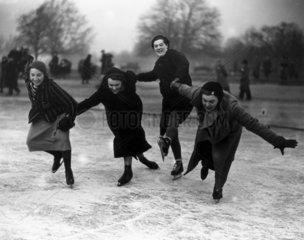 Novice ice skaters  27 January 1933.