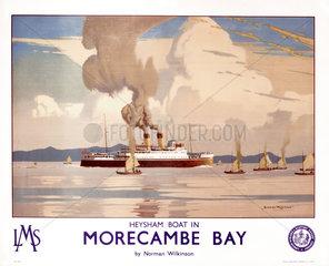 'Heysham Boat in Morecambe Bay'  LMS poster  1923-1947.
