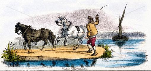 'Water Conveyance'  c 1845.