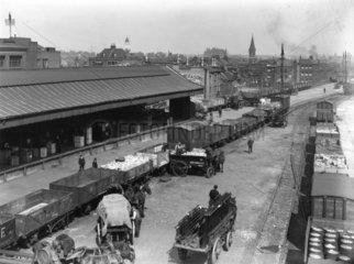 'Continental Bank'  Bishopsgate Goods Depot  London  4 June 1925.