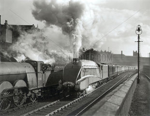 Pochard' steam locomotive hauling the Yorkshire Pullman  c 1930s.