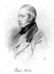 Robert Brown  British plant taxonomist  c 1830s.