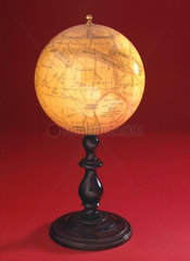 Globe of Mars on a wooden stand  1880-1890.