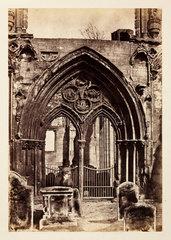 'Crowland: Crowland Abbey'  c 1855.