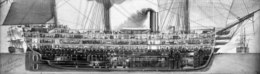 HMS 'Marlborough'  1854.