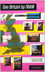 'See Britain by Train'  BR poster  1965.