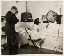 Ballerina in her dressing room  c 1930.