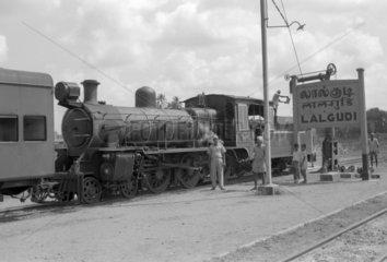 Nasmyth Wilson & Co loco of 1920  photographed at Lalgudi in 1969.