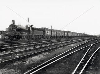 Caledonian Railway's coke train  Plean  c 1910.