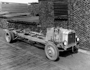 Leyland bus chassis  before construction at
