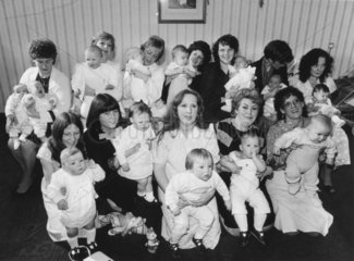 Mothers with their 'test tube' babies  April 1986.