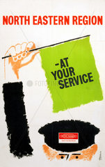 'At Your Service'  BR(NER) poster  c 1960s.