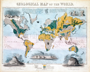 'Geological map of the world'  1850.