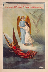 Advertisement for Dr Seaton's Animated Photos & Concert Company  c 1890.