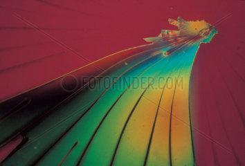 Sodium silicate  light micrograph  1990s.