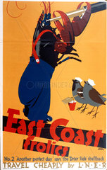 'East Coast Frolics  No 2'  LNER poster  1933.