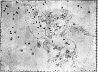 The constellation Centaurus  featuring Alpha Centauri  1603.