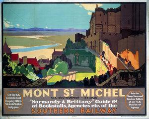 'Mont St Michel'  SR poster  1932.