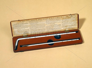 Dr Aitken's clinical thermometer  1867-1885.