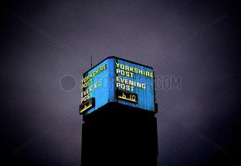 Yorkshire Post clock tower  Leeds  2005.