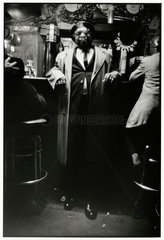 Kid Sheik in Buster's Bar  New Orleans  1965.