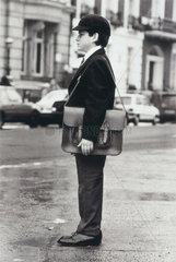 Schoolboy wearing a school uniform  20 January 1987.