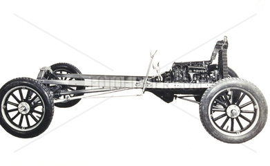 Model T Ford motor car chassis  1925.