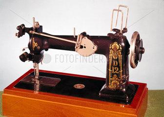 Wheeler and Wilson D12 twin-needle lock-stitch sewing machine  1890.